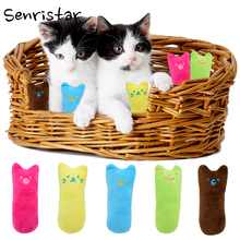 Interactive Funny Catnip Cat Toy Teeth Grinding Claws Chew Pillow Mint for Kitten Small Interesting Pet