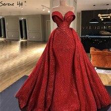Red Sweetheart Vestidos de Noche de lujo, brillantes, sin hombros, Dubai, batas de noche Sexy, 2020 Serene Hill HM66578