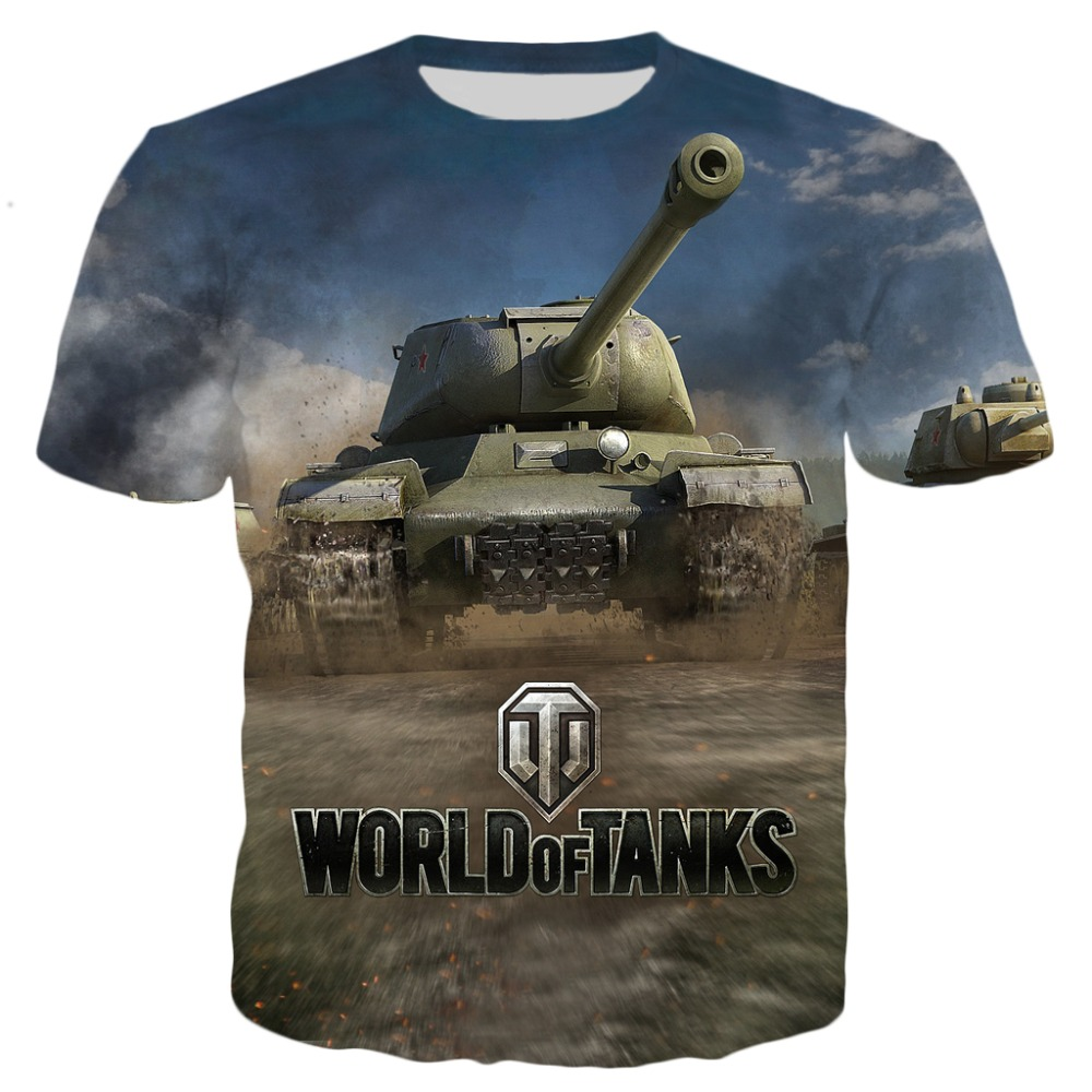 PLstar Cosmos 2020 Summer New Fashion Mens T-shirt Games World Of Tanks Patterns 3D Print Men Women Casual Cool T Shirt Tops