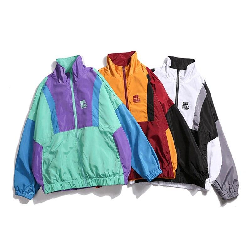 Men Jacket Streetwear Hip Hop Autumn Bomber Jacket Coat Oversize Loose High Quality Warm Casual Splice Fashion Couple Coats