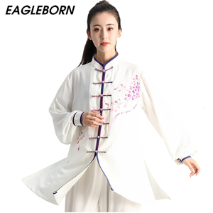 Image 1 - Женское платье в китайском стиле Tai Chi, традиционная китайская одежда для кунг фу, нарисованная вручную форма для ушу