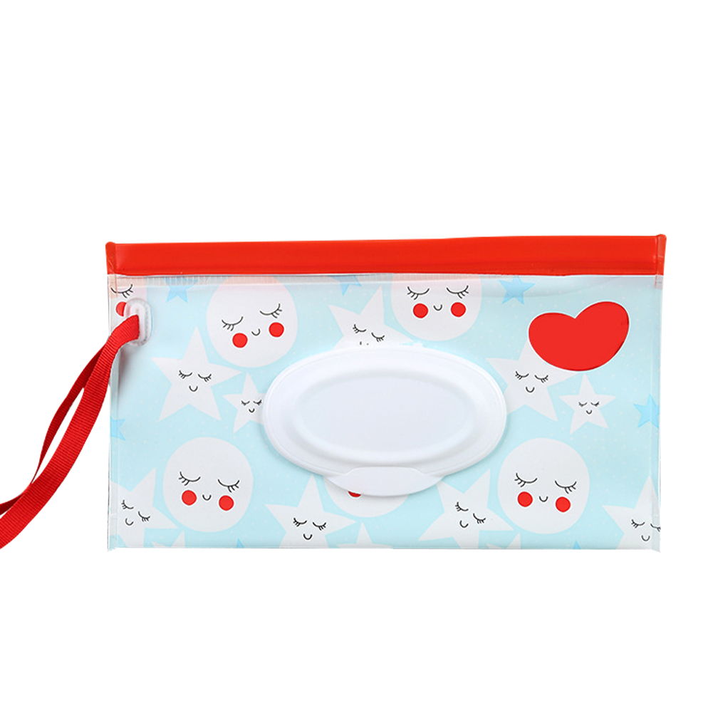 Flip Baby Wet Wipes Portable Pumping Bag Concave And Convex Chain Waterproof Tissue Packaging Bag