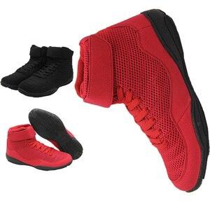 Zapatillas de boxeo profesionales para hombre, calzado de lucha libre atlético para hombres, zapatillas de deporte antideslizantes con suela muscular, calzado de entrenamiento transpirable