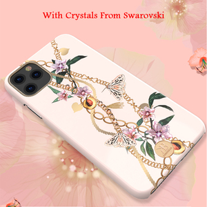 Image 4 - Original Kingxbar Chain & Crystals Elements Hard Phone Case For Apple iPhone 11/ Pro/ Max Luxury Full Protection Back Case Cover