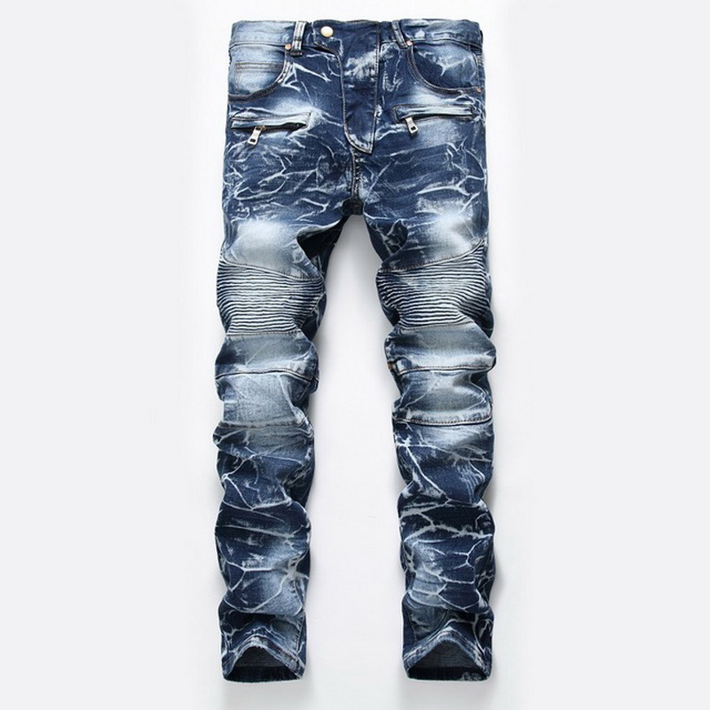 Denim Designer For Men'S Bike Moto Jeans Stretch Straight OverSize 28-38 40 42 2020 Spring Sutumn Winter HIP HOP Punk Streetwear