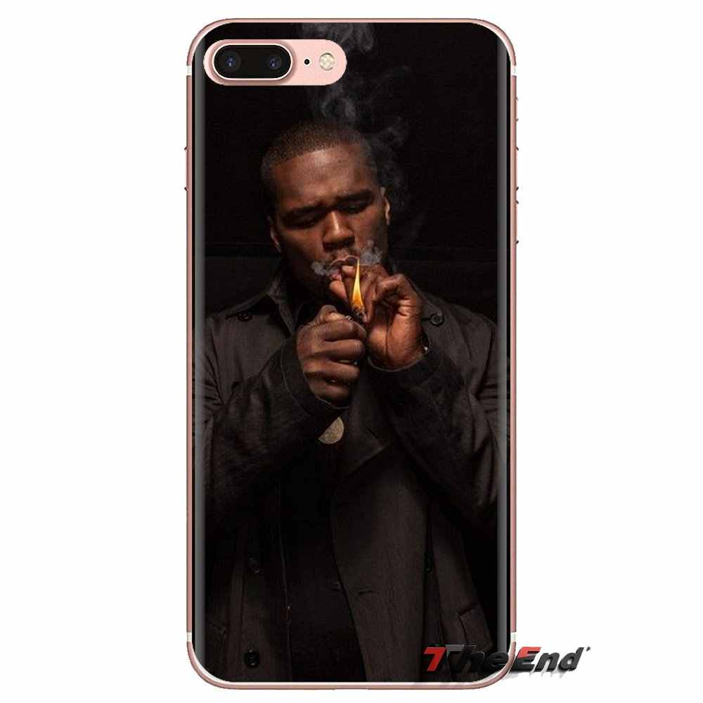 50 cent rap şarkıcı amerikan rapçi konut Samsung Galaxy S2 S3 S4 S5 MINI S6 S7 kenar S8 S9 artı not 2 3 4 5 8 Coque Fundas
