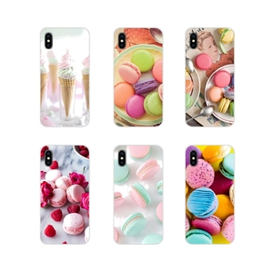 For Huawei Honor 4C 5C 6X 7 7A 7C 8 9 10 8C 8S 8X 9X 10I 20 Lite Pro Accessories Cases Covers dessert ice cream laduree Macarons