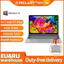 Teclast ordenador portátil F7 Plus, 14,1 pulgadas, 8GB RAM, 256GB SSD, Windows 10, Intel Gemini Lake N4100, Quad Core, 1920x1080, ultrafino
