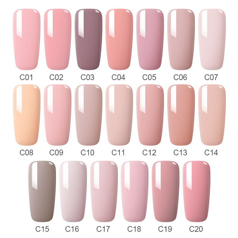 MAD DOLL 8ML 60 Colors Gel Nail Polish Pink Red Green Pure Nail Color Soak Off UV Gel Polish Varnish Manicure Gel Lacquer in Nail Gel from Beauty Health