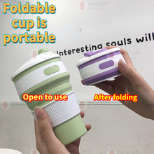Strange new silicone collapsible cup coffee cup portable outdoor sports telescopic water bottle suitable for men and women gifts