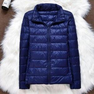 Image 2 - 2019 marke kleidung Frauen warme winter 90% Weiße ente unten jacke/Super licht dünne Parka Weibliche Ultra Licht Unten mantel Kurze Tops