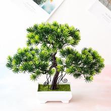 1 шт. искусственная сосна дерево miniasнакидка Свадебная вечеринка домашний офис Настольный бонсай Декор