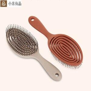 Image 1 - חדש YouPin XINZHI מרגיע אלסטי עיסוי מסרק נייד שיער מברשת עיסוי מברשת אנטי סטטי קסם מברשות ראש קומבס