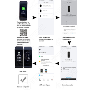 Image 2 - Xiaomi Redmi Band Smart Heart Rate Sport Monitor Bluetooth 5.0 Waterproof Bracelet Touch Large Color Screen Wristband