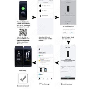Image 2 - Xiaomi Redmi zespół inteligentny pulsometr Sport Monitor Bluetooth 5.0 wodoodporna bransoletka dotykowy duży kolorowy ekran nadgarstek