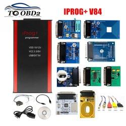2020 V84 IPROG + IProg i Prog 84 مبرمج مع CAN BUS/K-LINE/MB IR/تتفاعل/PCF79XX يدعم IMMO/تصحيح الأميال/إعادة تعيين الوسادة الهوائية