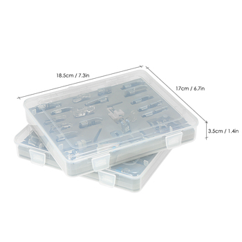 New 42pcs Domestic Presser Foot Sewing Machine Parts Accessories with Plastic Box for Professional Low Shank Sewing Machines
