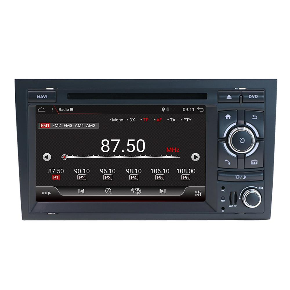 Eunavi Octa 8 cores 2 Din Car radio multimedia Player GPS Android 9.0 DVD Automotivo For Audi/A4/S4 2002-2008 navigation TDA7851