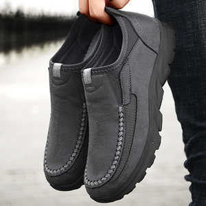 Men Casual Shoes Breathable Loafers Sneakers 2020 New Fashion Comfortable Flat Handmade Retro Leisure Loafers Shoes Men Shoes