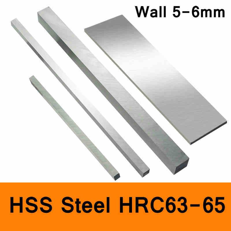 HSS Steel Plate HRC63 To HRC65 High-strength Steel Sheet Turning Tool High Speed Steel HSS Pad Sheet DIY Material Wall 5mm 6mm