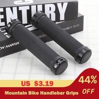 2 pçs/1 par mountain bike ciclismo bicicleta mtb guiador capa apertos suave de borracha macia anti deslizamento lidar com aperto barra de bloqueio final|Manopla bic.| |  -