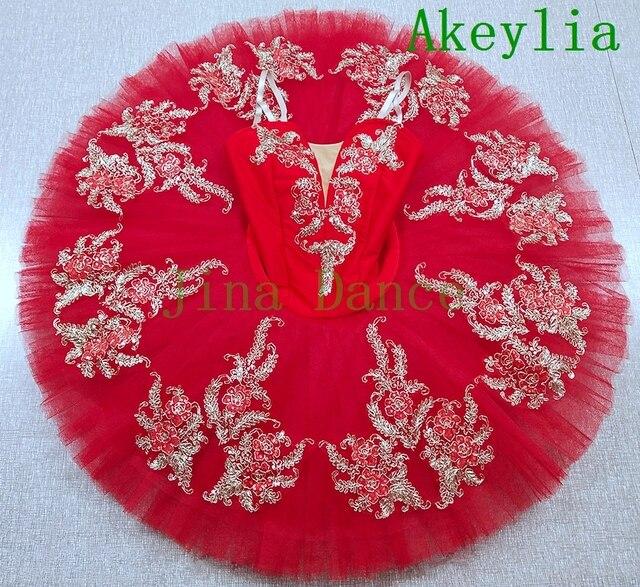 Rote Blume Fee Romantik La Esmeralda Professionelle Ballett Tutu Kostüm Mädchen Kinder Ballerina Zucker Plum Fairy Pfannkuchen tutu