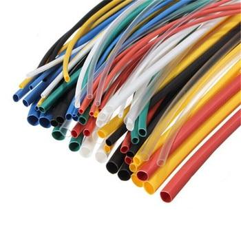 70 unids/set 20cm 5 Tamaño 7color poliolefina Tubo termorretráctil manguito Kit de envoltura de Cable de aislamiento eléctrico