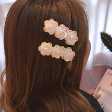Korea 2019 Spring New Big White Flower Hairpins For Women Colorful AB Sweet Hair Accessories Wedding Jewelry Clips Gifts