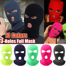 Ski Mask Knitted Face Cover Balaclava Full Face Mask for Winter Warm Outdoor Sports CS Winter Three 3 Hole Balaclava Knit Hat
