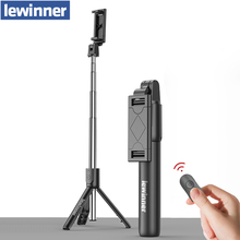 Lewinner all in 1 Wireless Bluetooth Selfie Stick Mini trípode extensible monopié Universal para iPhone,android