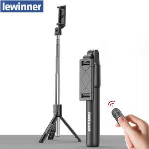 Image 1 - Lewinner tudo em 1 sem fio bluetooth selfie vara mini tripé extensível monopod universal para iphone, android