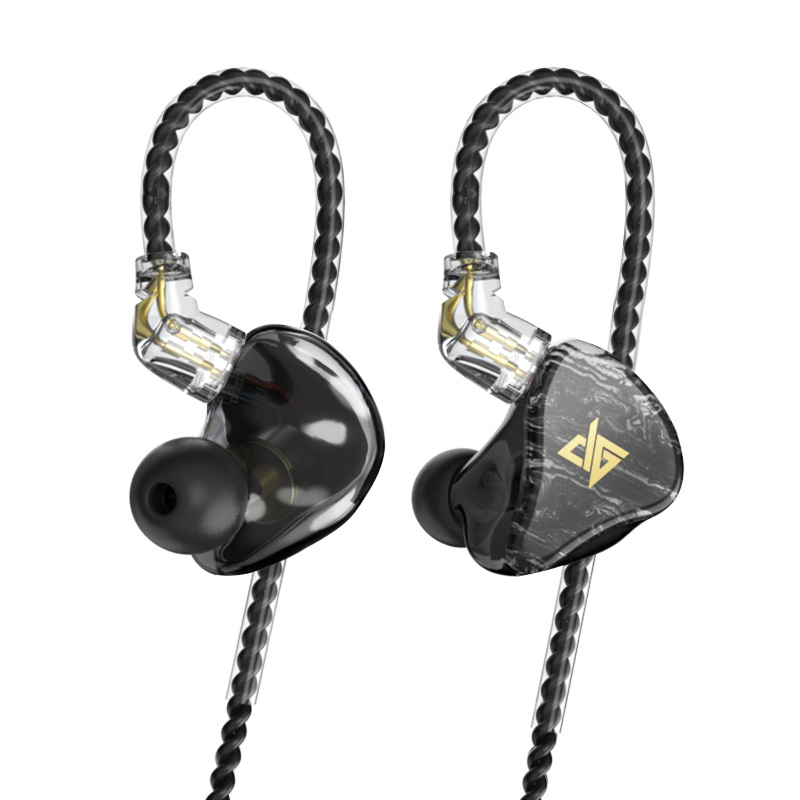 AUGLAMOUR T100 8MM Graphene Coaxial Double Moving Coil In Ear Earphone Earbuds HIFI Headset With 2Pin 0.78MM Detachable Cable