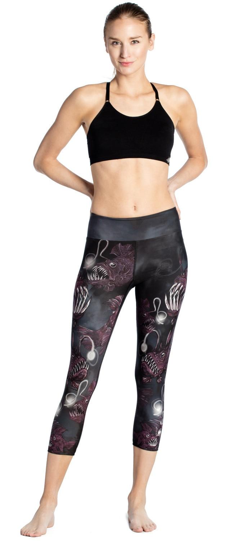 2019 New Terror Fish Print Slimming Exercise Breathable Sweat-absorbent Ladies 7 Lady Pants Leggings