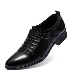 Homens clássicos Sapatos Flats De Couro Genuíno Dos Homens de Negócios Formais Vestido Sapatos mocassim Oxfords Zapatos Hombre Luxo sapato masculino