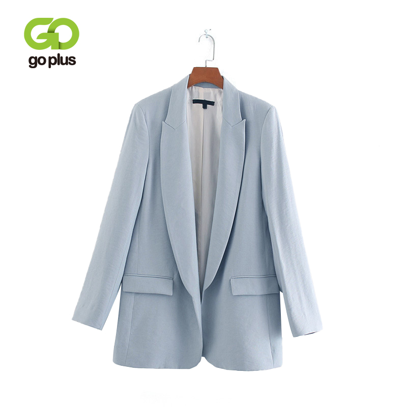GOPLUS Women's Jacket Plus Size Pink Blue Green Blazer Feminino Office Lady Blazers Womens Clothing Veste Femme Chaqueta Mujer