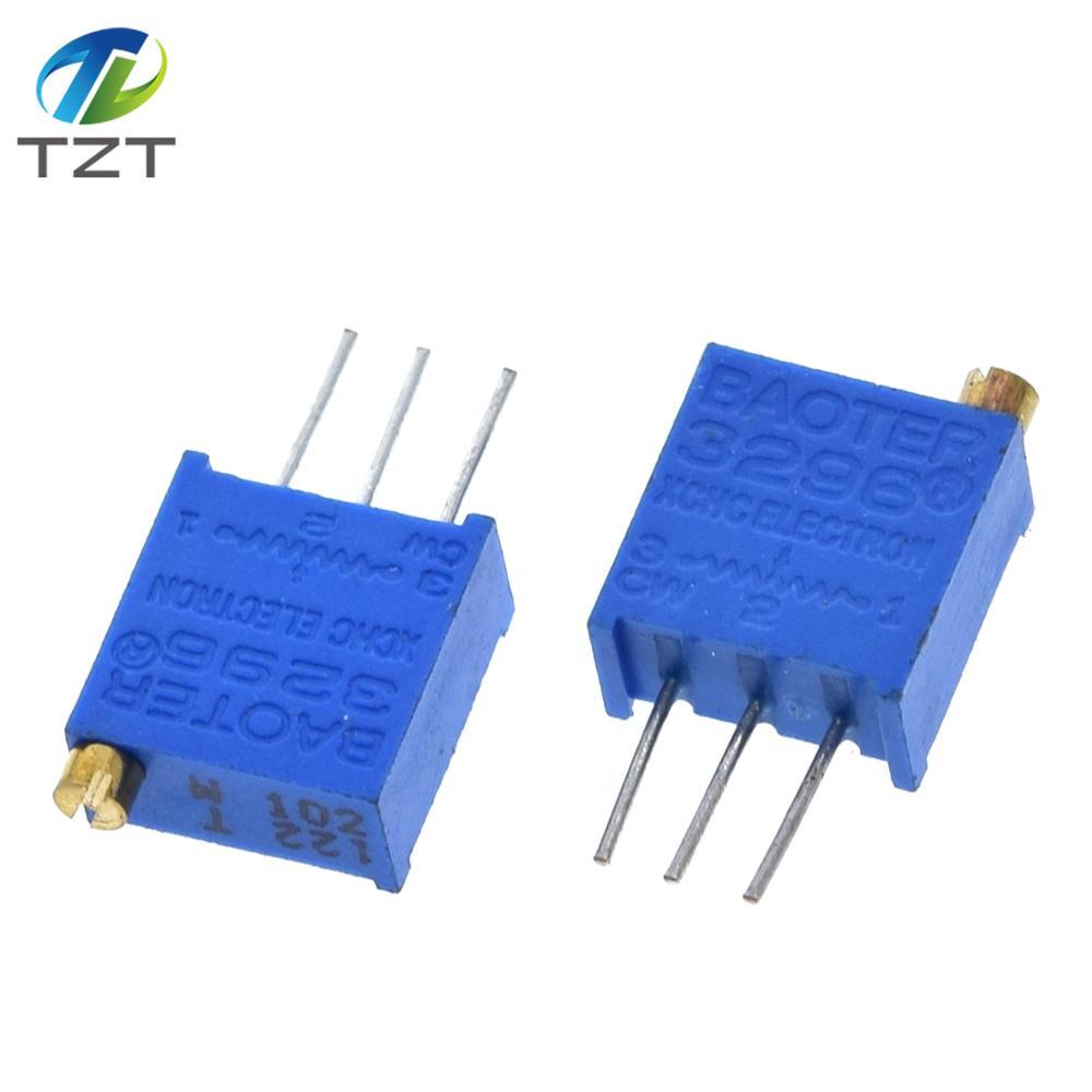 100 шт 3296W 3296 50 100 200 500 Ом 1K, 2K 5K 10K 20K 50K 100K 200K 500K 1 м ом 103 100R 200R 500R Подстроечный резистор подстроечный потенциометр