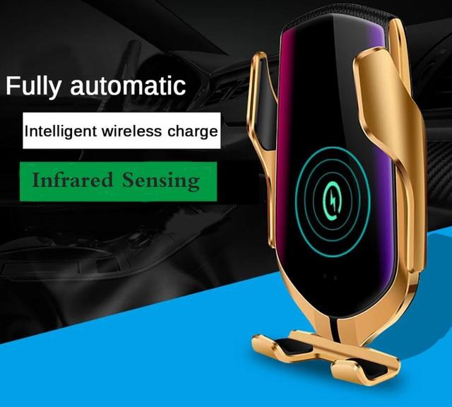 Cargador De Lujo Inalámbrico Para Coche Con Sensor Inteligente 1