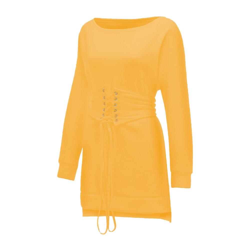 Robe épaisse Hiver femmes col rond à manches longues polaire + ceinture 104