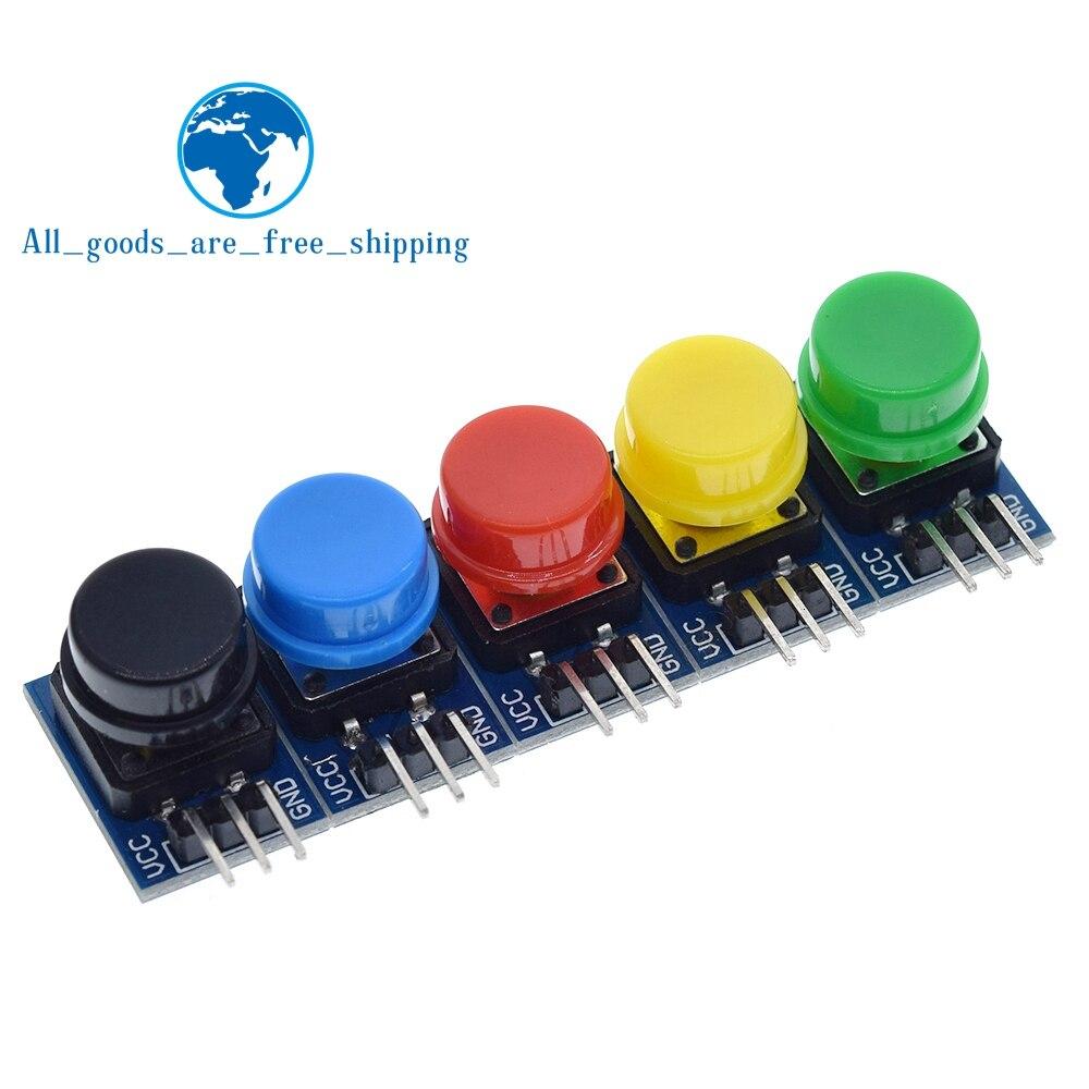 5 stücke 12X12MM Großen schlüssel modul Große taste modul Licht touch schalter modul mit hut hohe ausgang für arduino oder raspberry pi 3