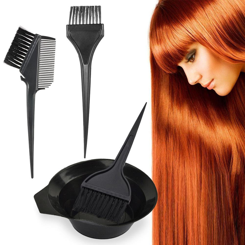 4 CPS Set Brushes Hair Dyeing Bowl Coloring Brush Hairdressing Salon Brushes Bowl Tool Kit