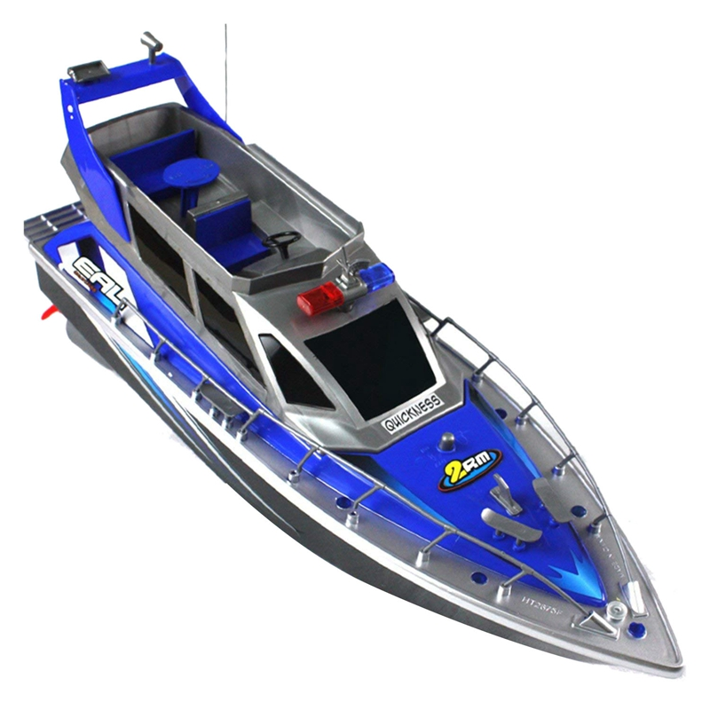Police Remote Control Boat 1:20 Police Speed Boat Rc Boat Electric Full Function Large 4-Channel Patrol Boat Remote Control Boat