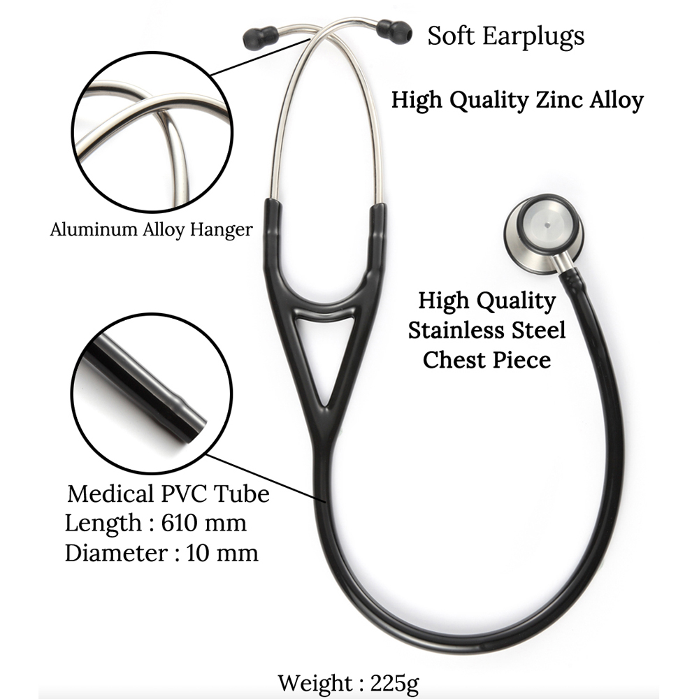 Professional Heart Lung Cardiology Stethoscope Medical Dual Head Doctor Stethoscope Doctor Medical Medical Equipment Device