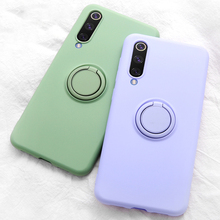 Soft Silicone,Cover,Case For Xiaomi Mi 10 9 SE 8 Mi9 Redmi K20 Pro 9T Phone Ring Holder Silicon Cover On Xiaomi Mi9 SE Case On O for xiaomi mi9 mi 9 mi8 mi 8 se camera lens protector ring cover for redmi k20 note 7 pro camera len protector phone accessories