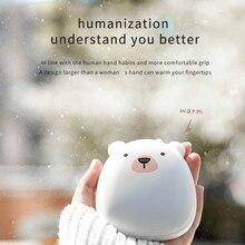 Милый мультяшный Зимний мини-грелка для рук, портативный USB Перезаряжаемый Пингвин/белый медведь, 3600 мА/ч внешний аккумулятор, двусторонний быстрый нагрев