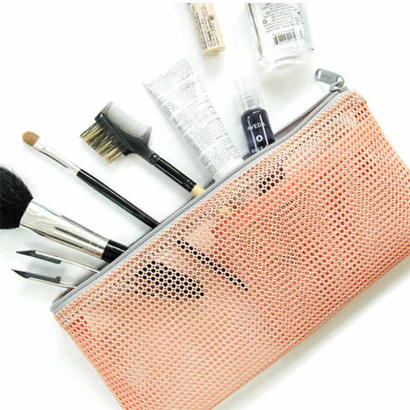 Wome Transparentes Saco De Higiene saco de Lavagem de Viagem Cosméticos Saco de Malha Com Zíper Organizador Storag Caixa de Caixa de Maquiagem Bolsa de Higiene Kit de Beleza