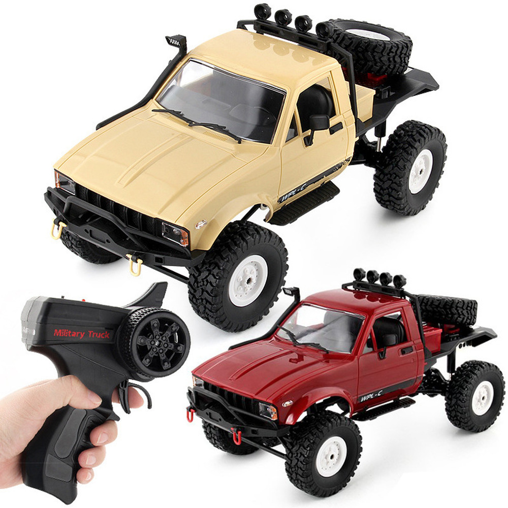 WPL C14 1/16 2.4G 4WD Off Road RC Military Car Rock Crawler Truck With Front LED RTR Toys|RC Cars| |  - title=