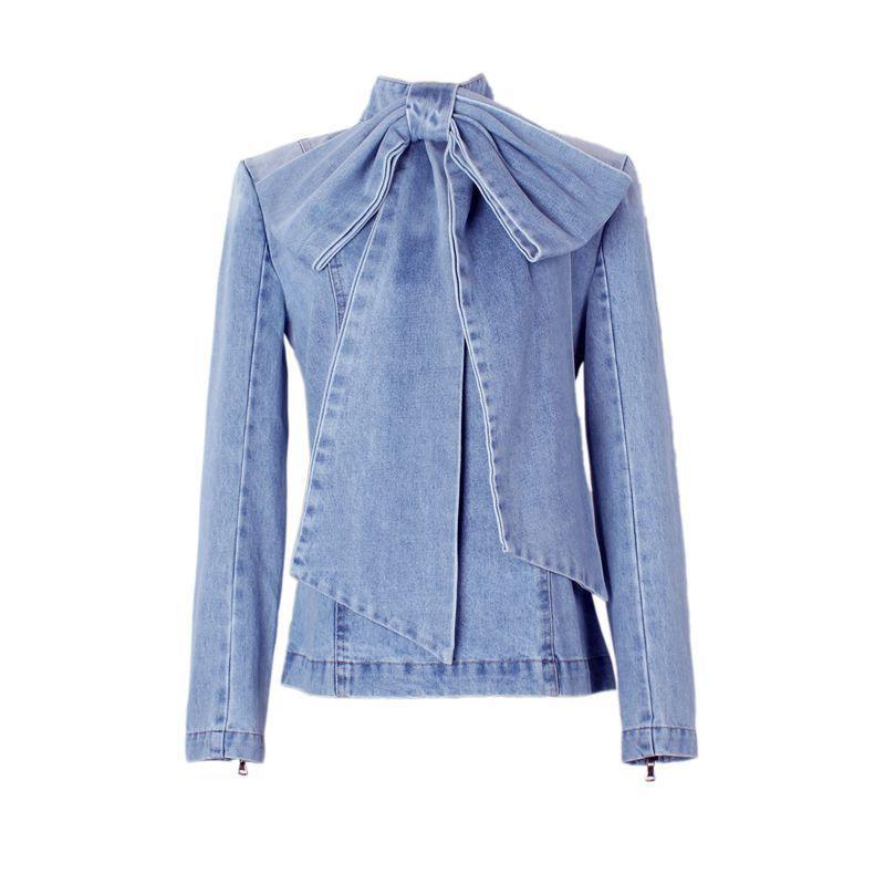 Bow Cowboy Jacket Long Sleeve 2019 Show Woman Shirt