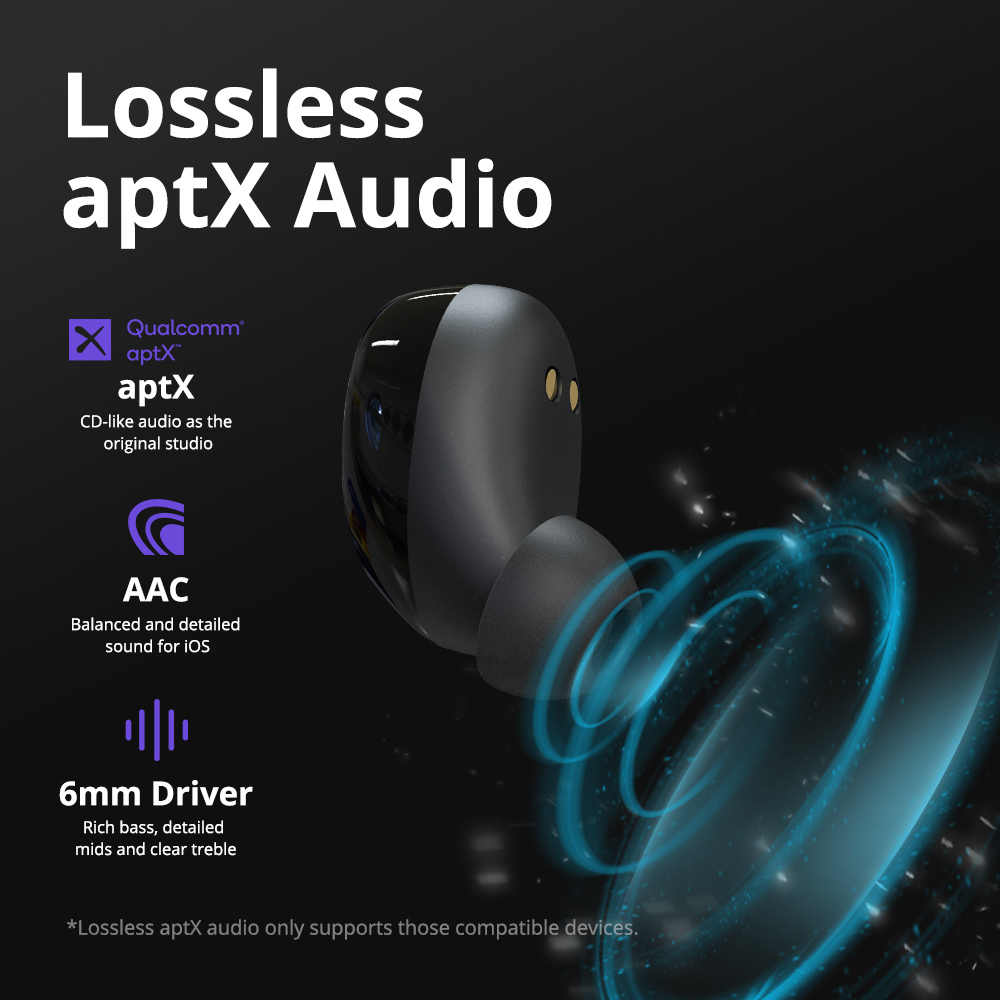Tronsmart de Neo APTX auriculares bluetooth inalambrico Qualcomm®Chip TWS auricular inalámbrico con Control de volumen, asistente de voz