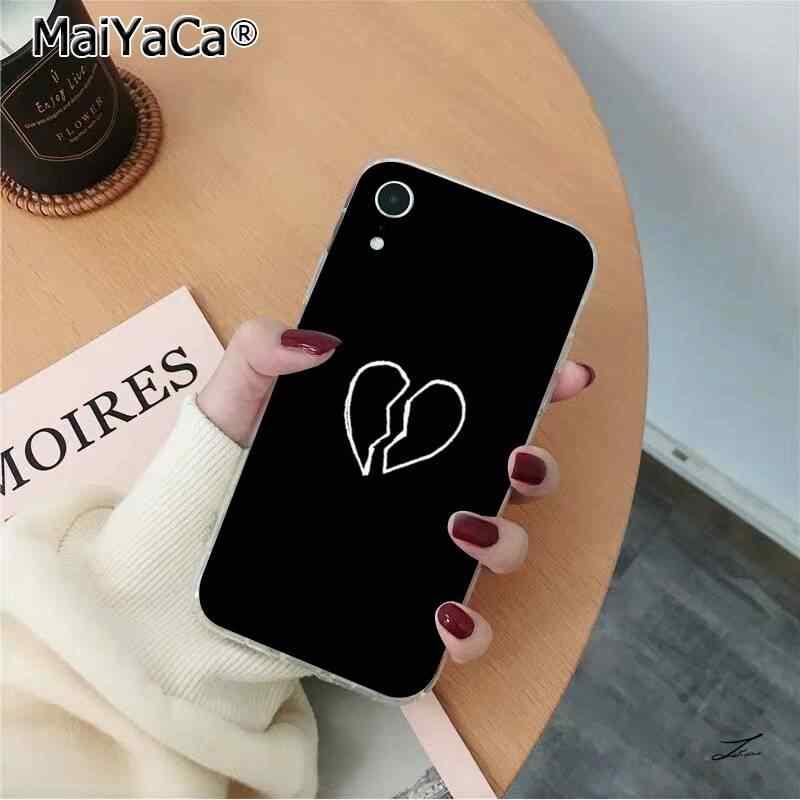 MaiYaCa fond fluorescent néon perdant coeur rouge TPU couverture de téléphone souple pour iPhone 11 pro XS MAX 8 7 6 6S Plus X 5 5S SE XR