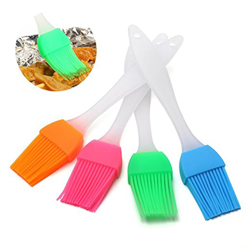 1Pc Butter Brush Pastry Brush Stainless Steel Handle With Silicone Brush Head Basting Brush Oil Brush Kitchen Supply Brush For Kitchen Cooking /& Marinating S Size